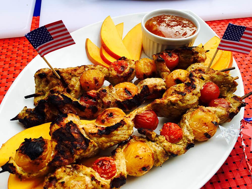Chef Duran's Coconut Curry Pork and Tomato Satay