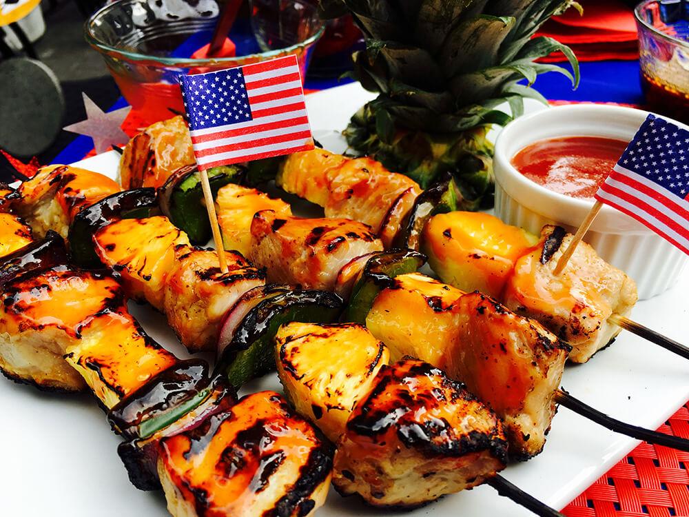 Chef Duran Hawaiian Style Pork Kebabs