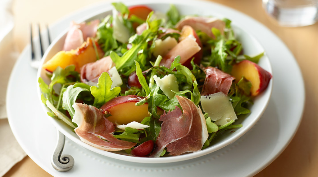 Inspired_20170628_Recipe_Cooking-&-Culture_Prosciutto,-Arugula-and-Pickled-Stone-Fruit-Salad