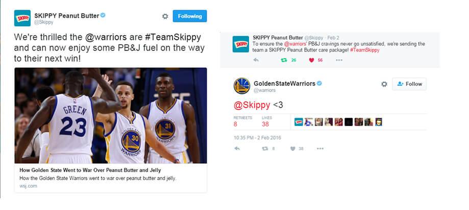 SKIPPY Warriors Tweets
