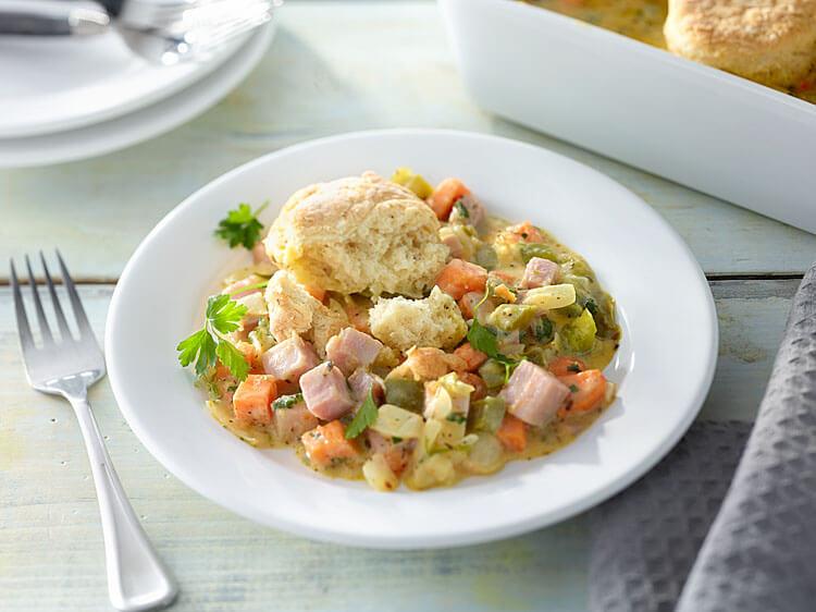 southern-ham-&-vegetable-cobbler